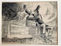 Original political cartoon signed,