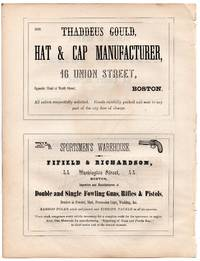 Original 1853 Advertisement 4 Half Page Ads Whip Maker, Gun Dealer, Taylor