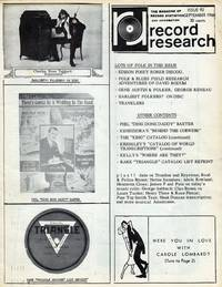 Record Research: The Magazine of Record Statistics and Information, Issue 92, September 1968