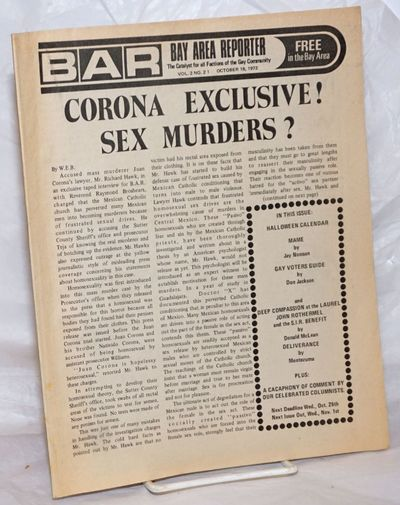 San Francisco: Benro Ent, 1972. Magazine. including covers, 8.5x11 inches, photos, ads, listings, re...