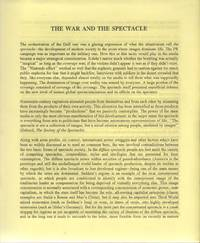 THE WAR AND THE SPECTACLE