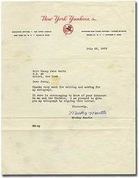 "Typed Letter Signed (""Mickey Mantle"")"