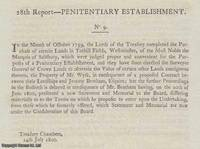 PENITENTIARY ESTABLISHMENT. An interesting collection of 8 printed letters concerning Mr....