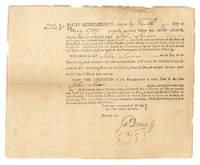 Tavern License Granted to John Swan by Mayor James Duane, 1789