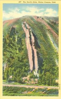 The Devil's Slide, Weber Canyon, Utah unused linen Postcard