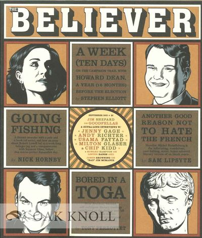 (San Francisco, CA): The Believer, 2003. stiff paper wrappers. small 4to. stiff paper wrappers. 111+...