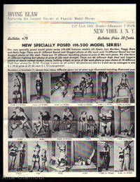IRVING KLAW BULLETIN #79; Featuring the Largest Variety of Popular Model Photos