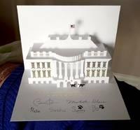 2013 Official President Barack Obama White House Pop up Christmas Card