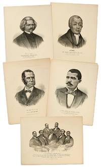 """[Lithographs]: Five Currier and Ives Lithographs of Four Prominent African-Americans and a Portrait of """"The First Colored Senator and Representatives"""""""
