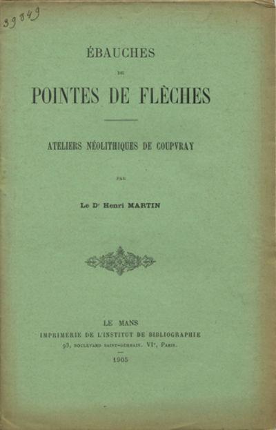 Le Mans, France: Imprimerie de l'Institut de Bibliographie, 1905. Offprint. Paper wrappers. A very g...