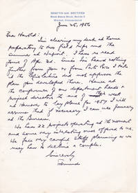 image of AUTOGRAPH LETTER ABOUT A PUERTO RICAN PROJECT SIGNED BY EDMUND DE SCHWINITZ BRUNNER,  FORMER DIRECTOR OF RURAL INVESTIGATIONS OF THE INSTITUTE FOR SOCIAL AND RELIGIOUS RESEARCH.