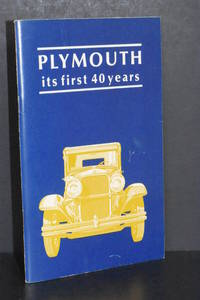 image of Plymouth; Its First 40 Years