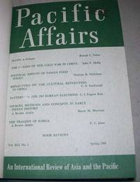 Pacific Affairs Volume 41, Spring and Summer 1968 by Various - Hardcover - 1968 - from Easy Chair Books (SKU: 148764)