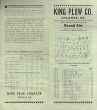 1945 King Plow Co. Atlanta, Ga. King Crown Grain Planter Repair List Effective August 1, 1945