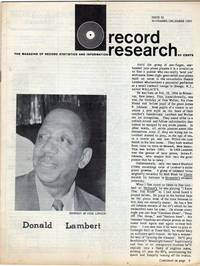 Record Research: The Magazine of Record Statistics and Information, Issue 25, November/December 1959