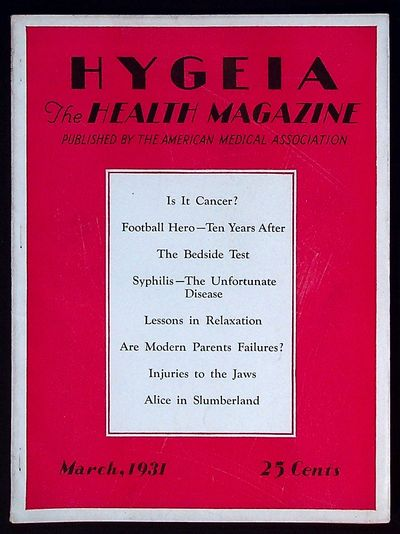 American Medical Association, 1931. Paperback. Very Good. Paperback. Single issue. Includes articles...