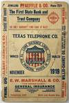 View Image 1 of 4 for Texas Telephone Co. Waco. November 1919 Inventory #1936