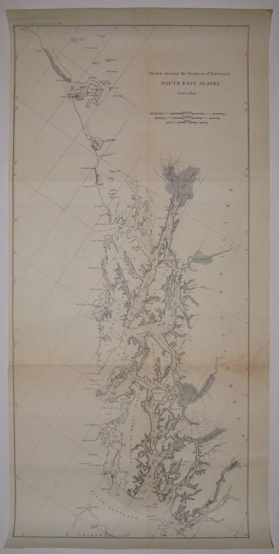 Coast and Geodetic Survey Report, 1896. unbound. very good. Map. Uncolored lithograph. Image measure...