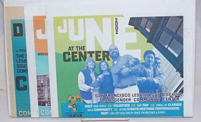 San Francisco: SF Lesbian Gay Bisexual Transgender Community Center, 2002. Newspaper. Three event ca...
