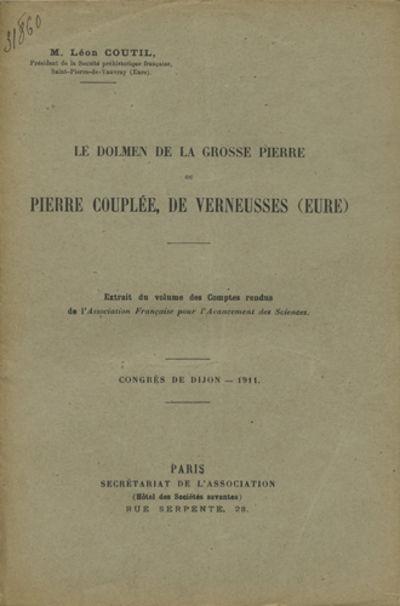Paris: Secrétariat de l'Association, 1911. Offprint. Paper wrappers. A very good copy.. 7 pp. Illus...