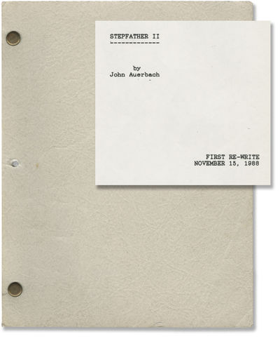 N.p.: Millimeter Films, 1988. Vintage First Re-Write script for the 1989 film. A rare example of a s...