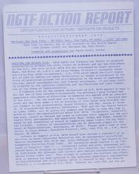 image of NGTF Action Report: opportunities for action/reports on results; June/July 1979; with cover letter from O'Leary and It's Time Newsletter vol. 6 #5