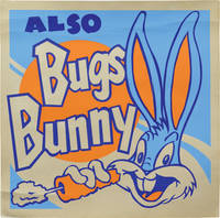 Collection of four original Looney Tunes silkscreens, circa 1960s, featuring Bugs Bunny, Porky Pig, Sylvester the Cat, and Tweety Bird