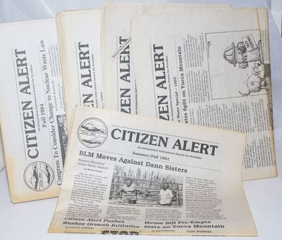 Reno, NV: Citizen Alert, 1994. Six issues of the environmentalist and anti-nuclear newspaper, spanni...