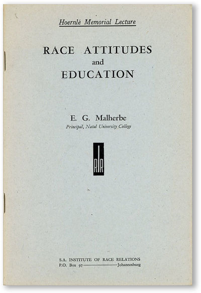 Johannesburg: S.A. Institute of Race Relations, 1946. First Edition. Paperback. Octavo (20.5cm.); pu...