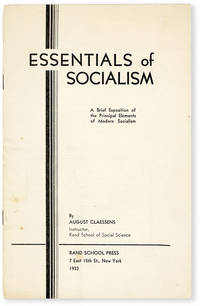 image of Essentials of Socialism: a Brief Exposition of the Principal Elements of Modern Socialism