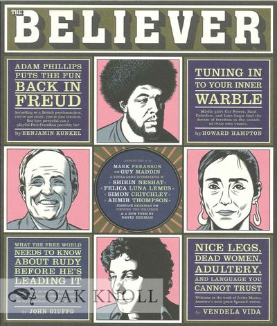 (San Francisco, CA): The Believer, 2003. stiff paper wrappers. small 4to. stiff paper wrappers. 127+...
