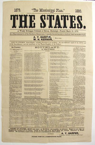 Okolona, Miss, 1879. Large folio broadside, approx 25
