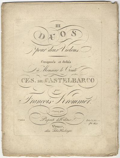 Vienne: Tobie Haslinger , 1826. Folio. Unbound. Violino primo: 1f. (title), (blank), 2-17, (blank) p...