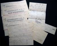 1884 Group of Manuscript & Printed Ephemera for the Theatre & Dance Club Business of the
