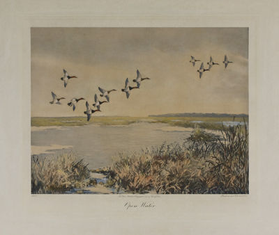 New York: Frank Lowe, 1943. Number 125 of 250 copies. Aquatint etching, hand colored, signed by the ...