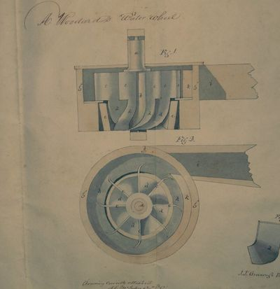 : US Patent Office, 1842. Good. Four pages plus fine colored patent illustration in watercolor and i...