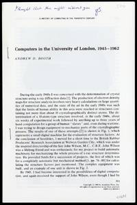 Computers in the University of London, 1945-1962