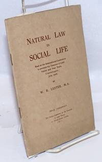 image of Natural law in social life; read at the International Conference to Promote the Taxation of Land Values and Free Trade, Copenhagen, July, 1926