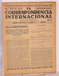 image of La Correspondencia internacional; revista semanal, año V, num. 52, 8 Dicbre. 1933
