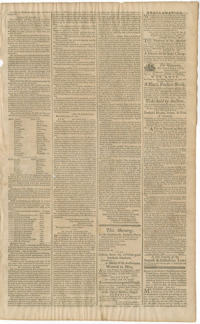September 1789 Printing of the Act...