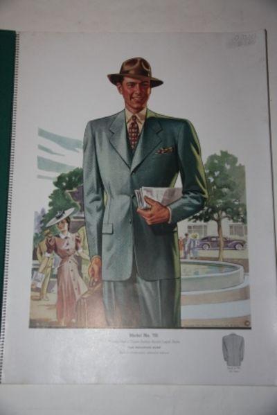 New York: Reliance Woolen Co., Inc., Glicksman Fashion Co., Inc., 1939. Cardboard, Fine Spiral. Very...