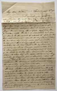 [Autograph Letter, Signed, from L. Bellinger to His Father in Texas, Concerning the French Purchase of a Local Hotel]