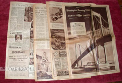 Wilmington: Wilmington Morning News, 1951. self paper wrappers. folio. self paper wrappers. 56 pages...