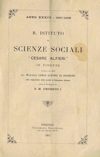 R. Istituto di Scienze Sociali Cesare Alfieri in Firenze