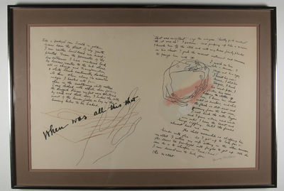 np: NP, 1940. 1st. Henry Miller. Signed Henry Miller in pencil. Mixed media (15 x 24