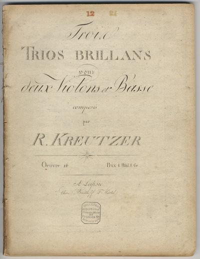 Leipsic: Breitkopf et Härtel , 1805. Folio. Disbound. Violino primo: (title), (blank), 3-20 pp.; Vi...
