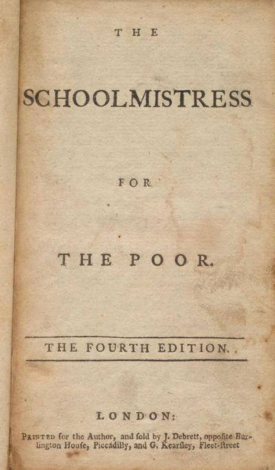 The Schoolmistress for the Poor.