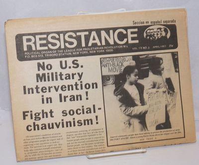 New York: League for Proletarian Revolution, 1980. 8p. tabloid format newspaper, horizontal fold, pa...