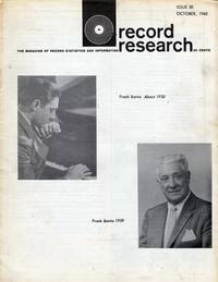 Record Research: The Magazine of Record Statistics and Information, Issue 30, October 1960