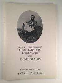 19th & 20th Century Photographic Literature and Photographs: MARCH 13, 1997